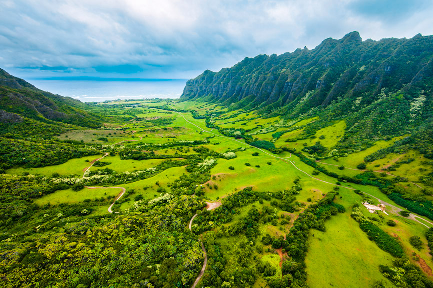 Rainbow Helicopter scenic views of Kohala Valley