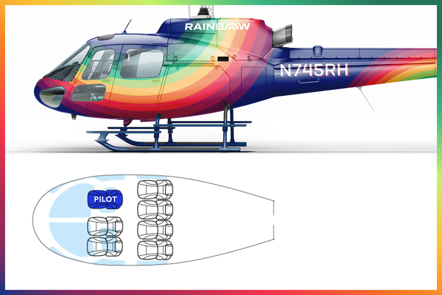 Rainbow Helicopters AStar Seating Chart