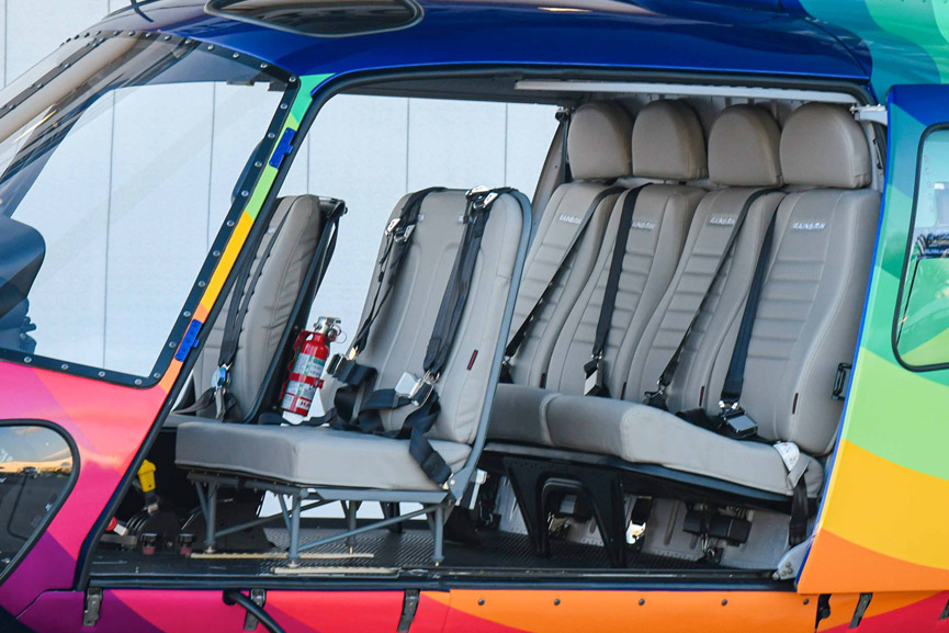 AStar Seating In A Rainbow Helicopter